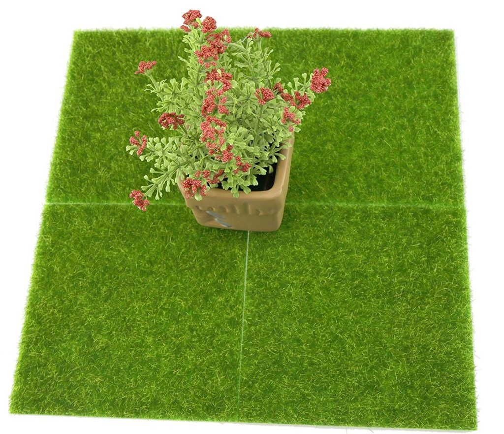diseño de jardines con cesped artificial